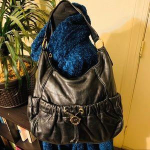 Michael Kors Black Leather Hobo Purse
